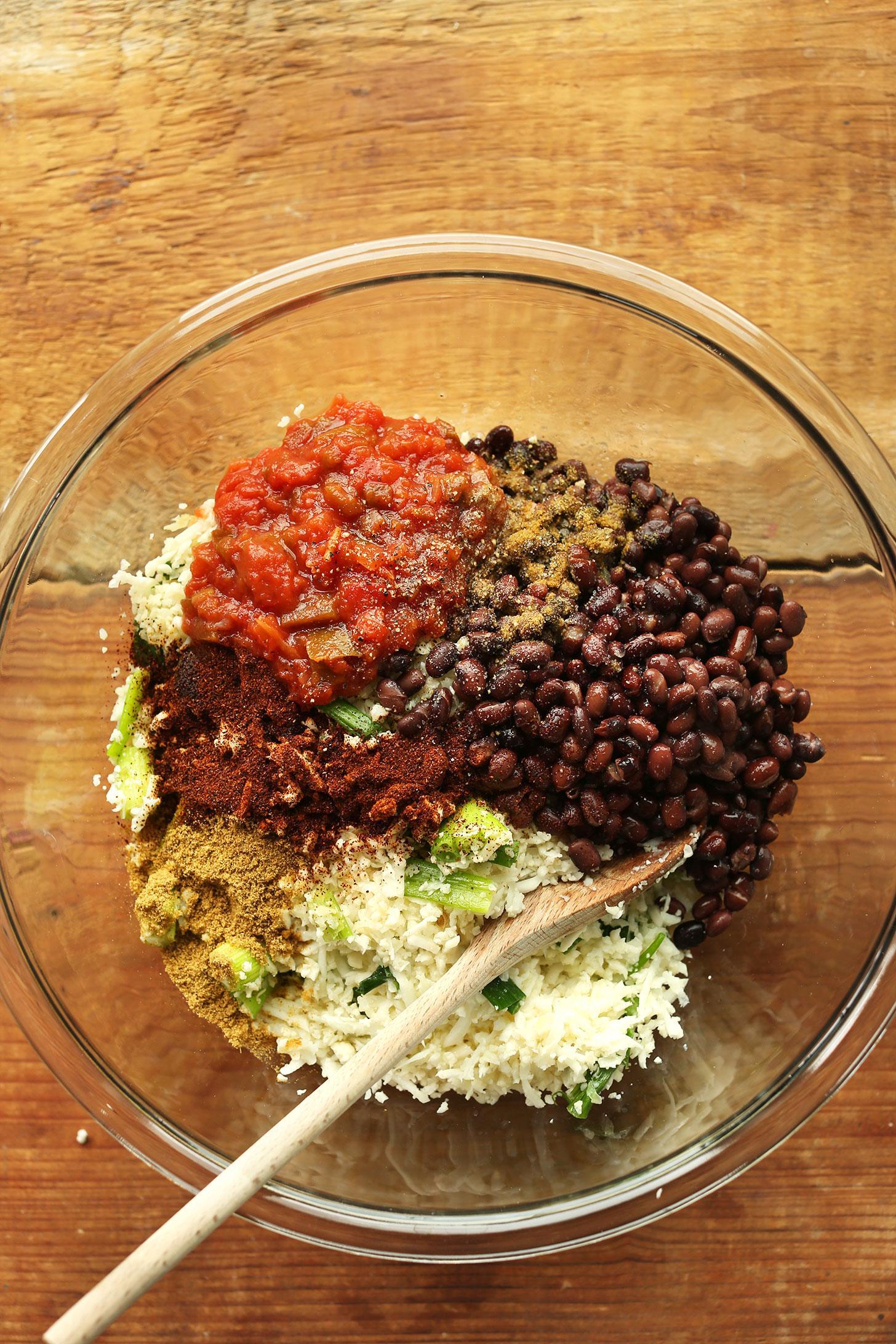Фаршированные перцы из цветной капусты и риса 3