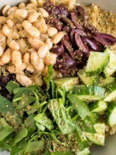 Легкий средиземноморский салат Орзо