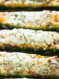 Лодочки с кабачками и сыром