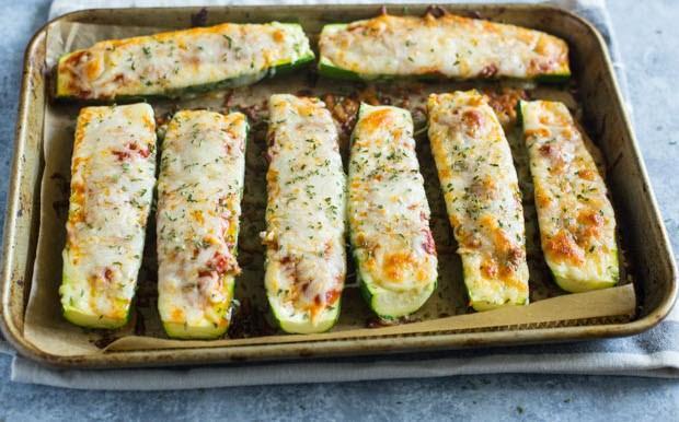 Лодочки с кабачками и сыром 6