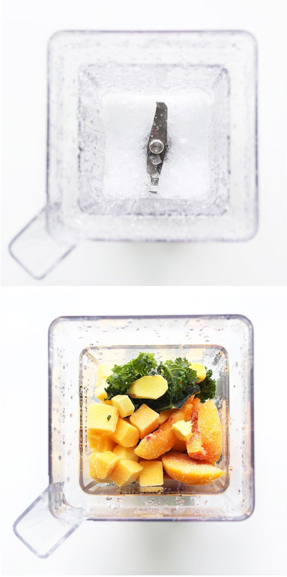 Зеленый смузи с манго, имбирем и капустой 3