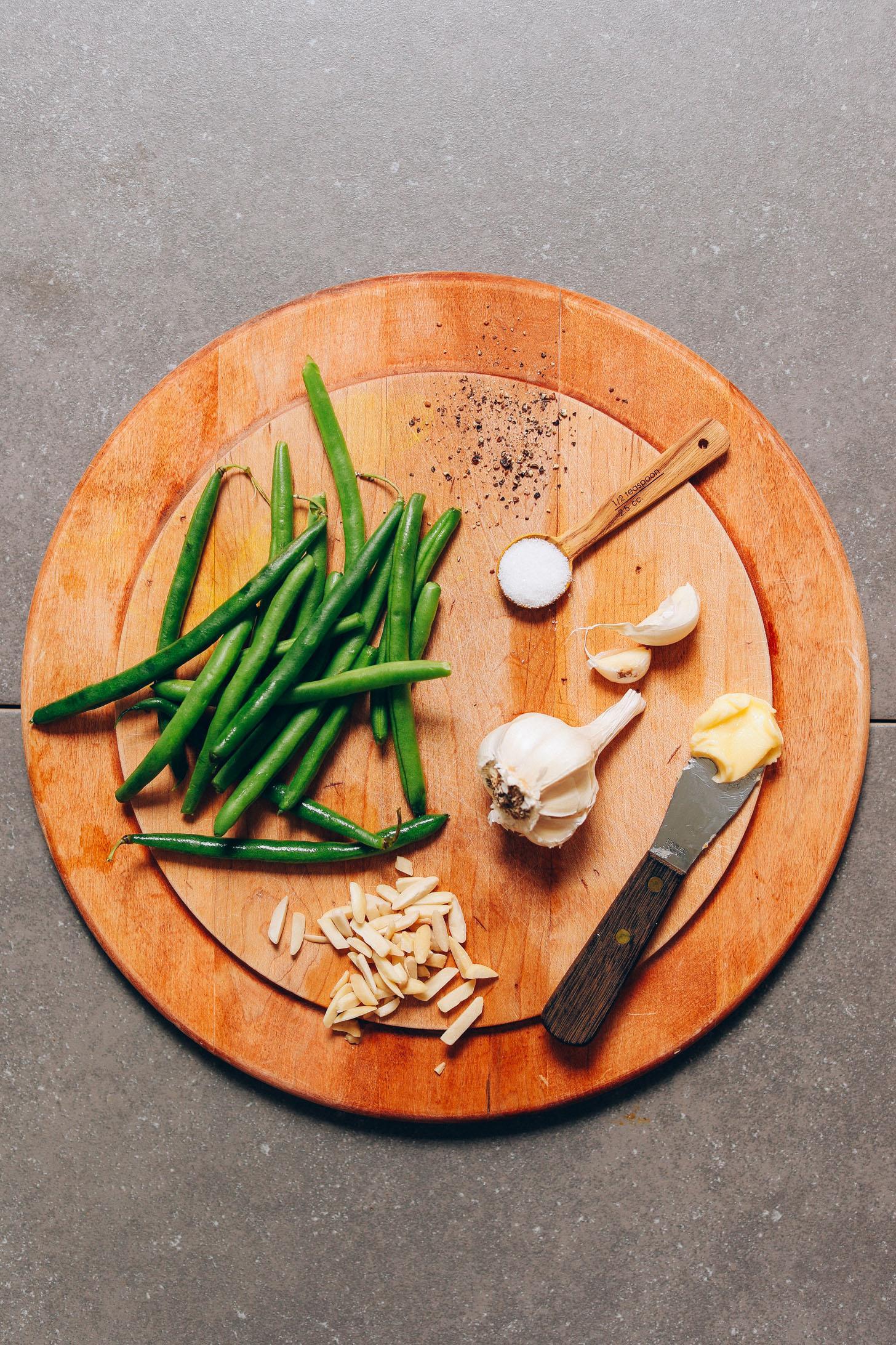 Спаржевая фасоль с миндалем и чесноком 2