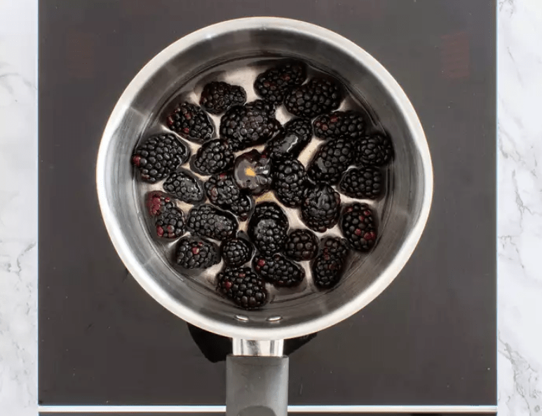 Ежевичный джем без сахара с семенами чиа фото 2