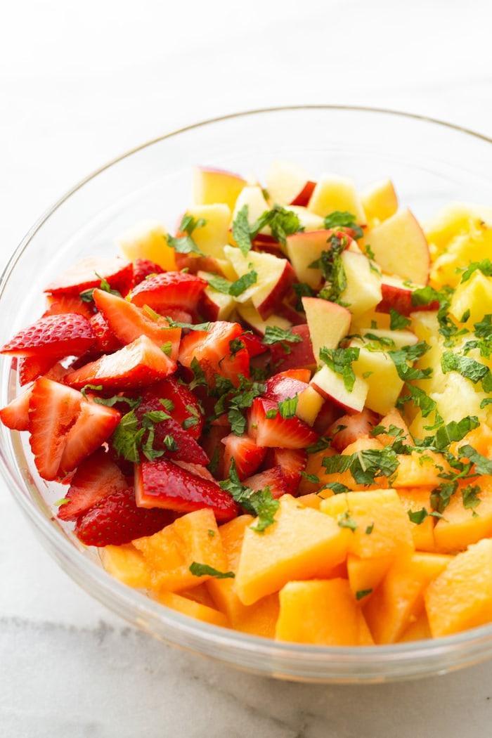 Фруктовый салат с мятой фото 3