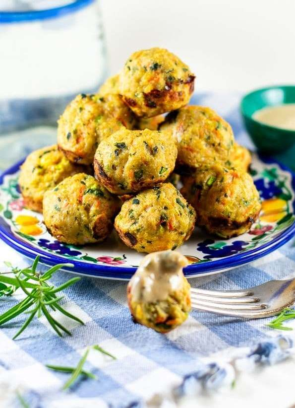 Куриные шарики с овощами в духовке 3