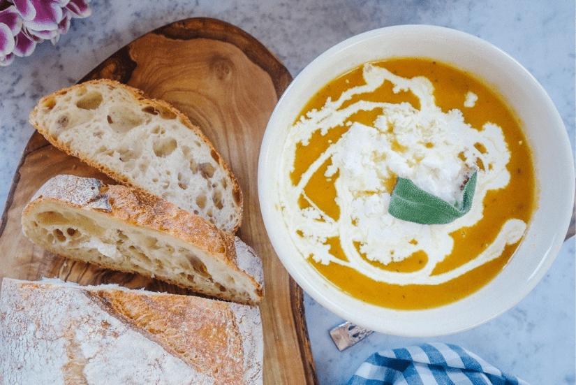 суп из тыквы с фетой и шалфеем 4