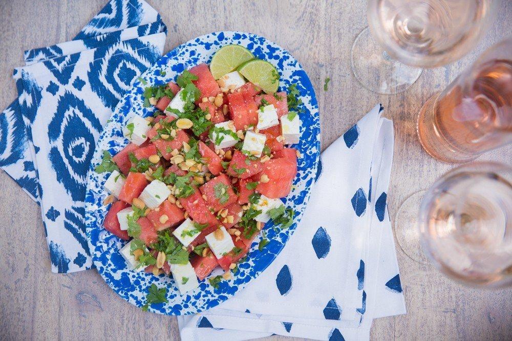 Салат из арбуза с сыром Фету фото 2