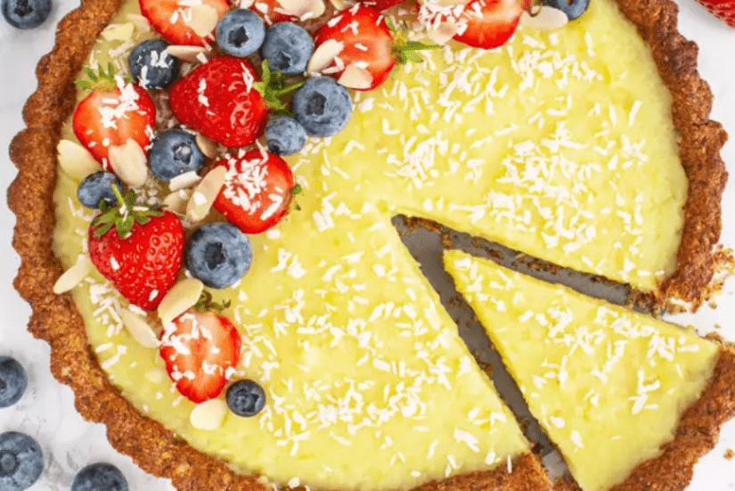 Веганский лимонный пирог без глютена 1