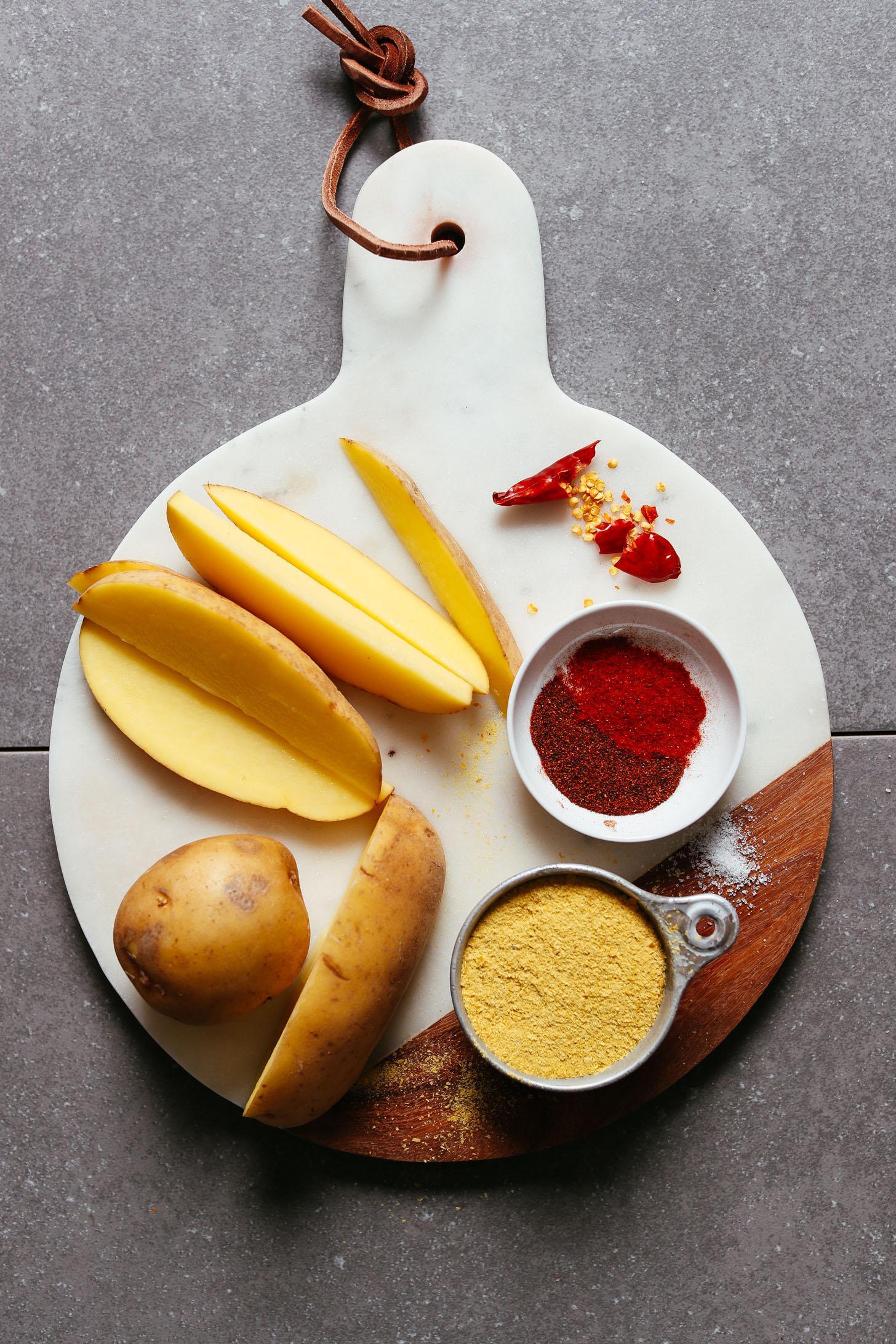 Запеченный картофель фри с сырным чили без масла фото 2