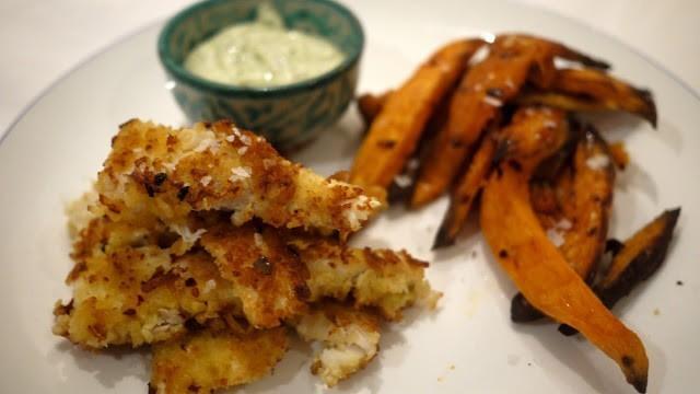 Рыбные чипсы с сладким картофелем фото 4
