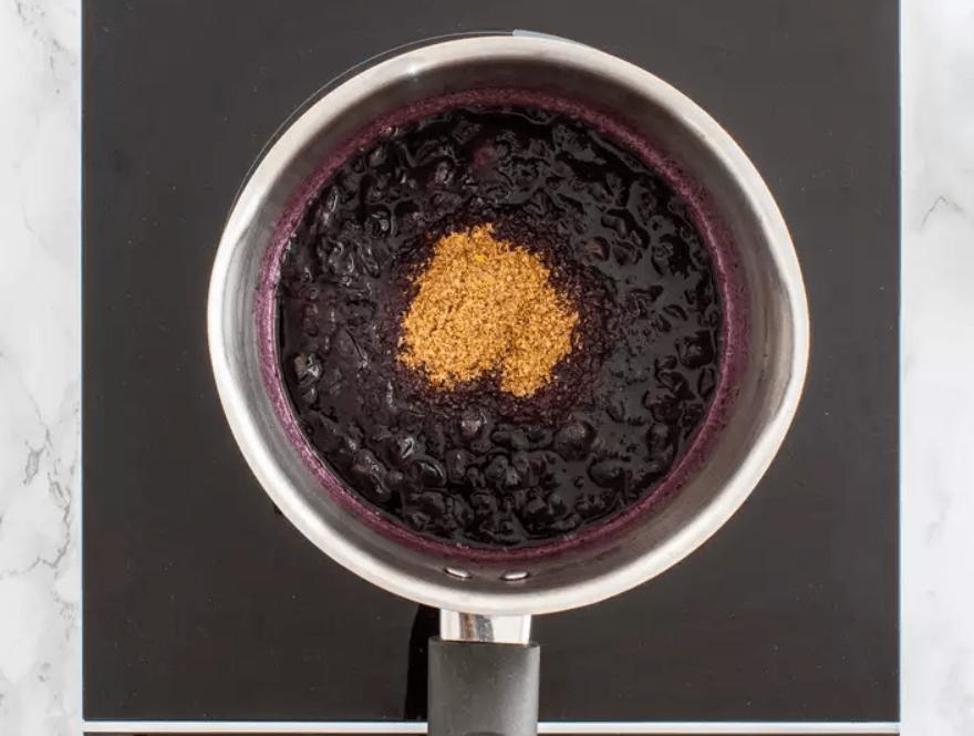 Черничный джем без сахара с семенами льна 3