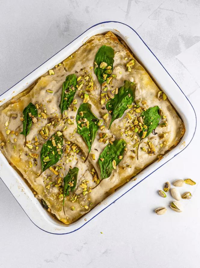 Лазанья со шпинатом и лососем 8