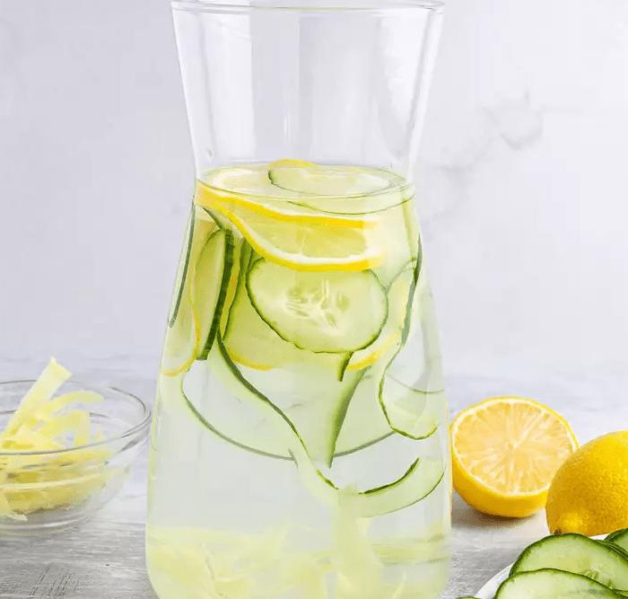 Лимонад с имбирем, огурцом и лимоном 3