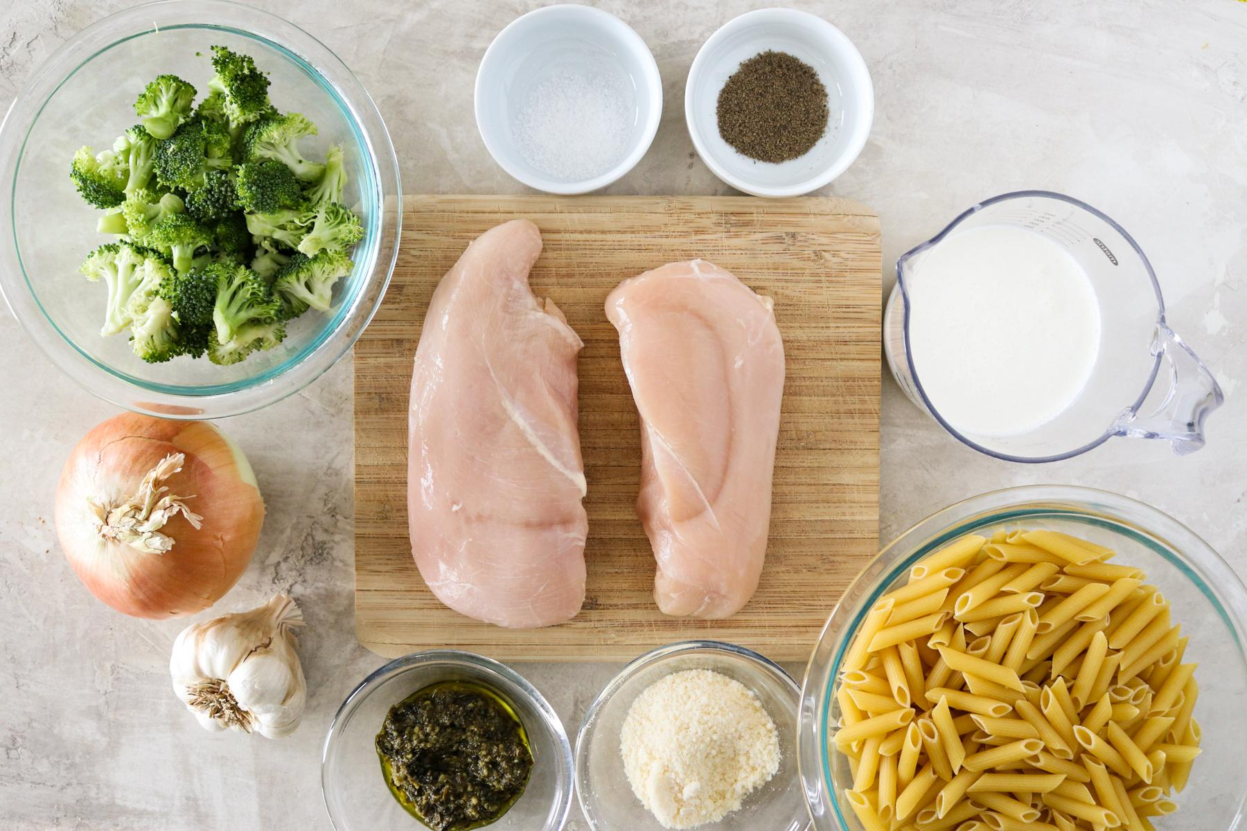 Паста с курицей и брокколи 3