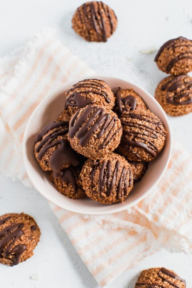 Шоколадно-кокосовое миндальное печенье 2