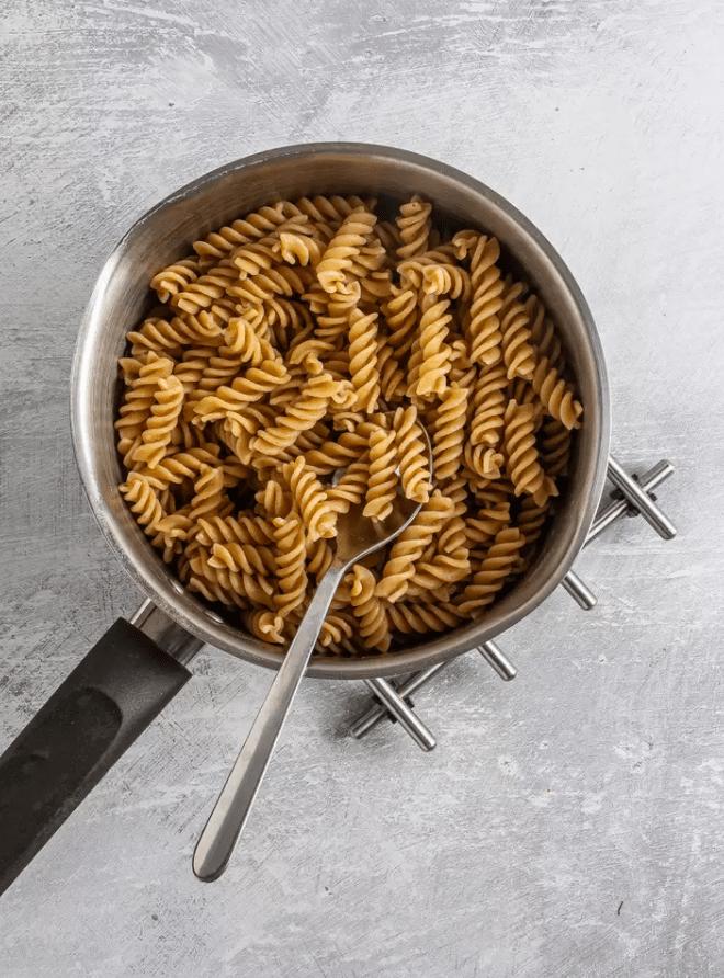 Веганская паста тахини без сливок с грибами 4