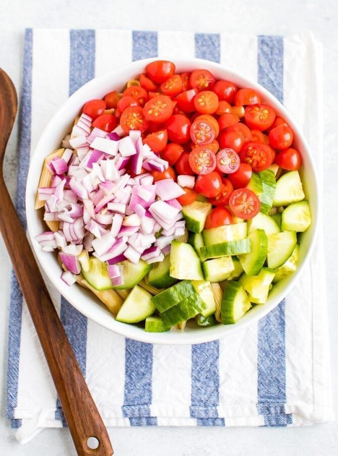 Салат из здоровой пасты 4