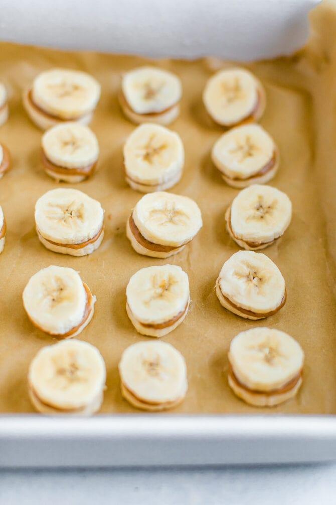 Шоколадно-арахисовые банановые кусочки в духовке 3