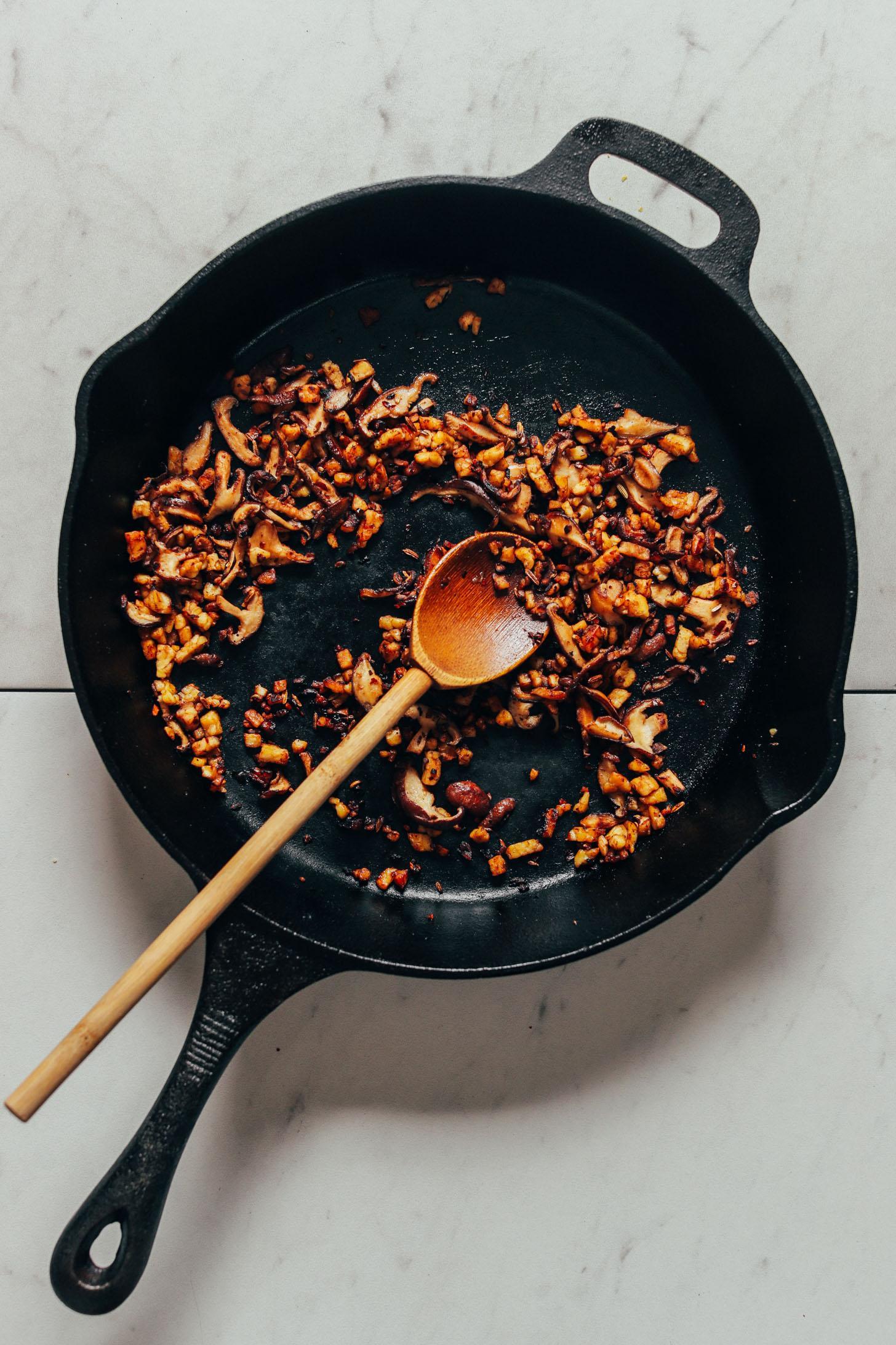 Веганская лазанья с грибами 5