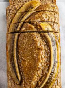 Веганский банановый хлеб с грушей