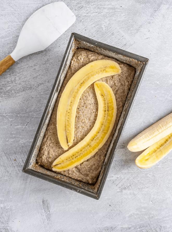 Веганский банановый хлеб с грушей 5