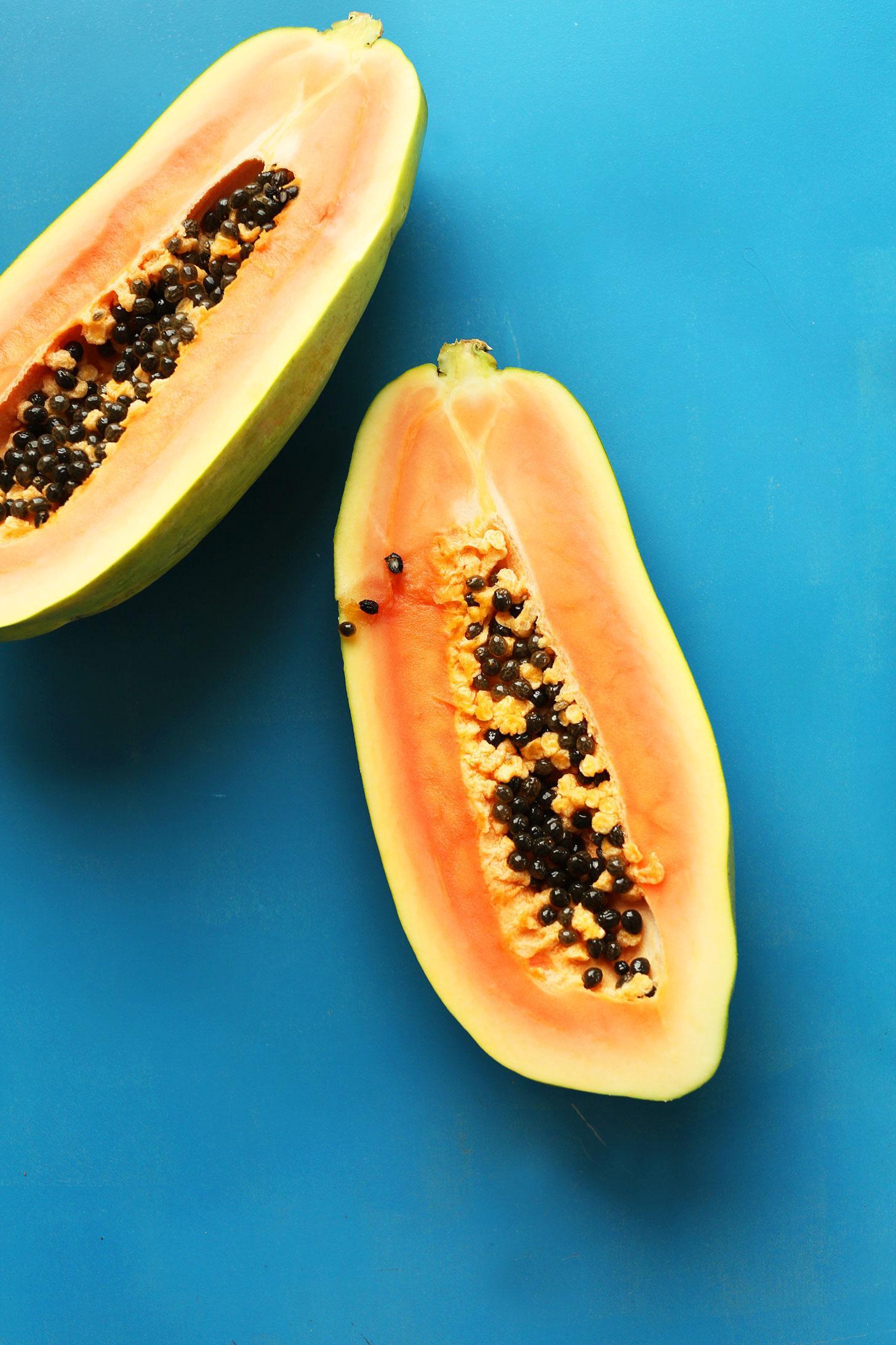 Смузи с кокосом и папайей 6