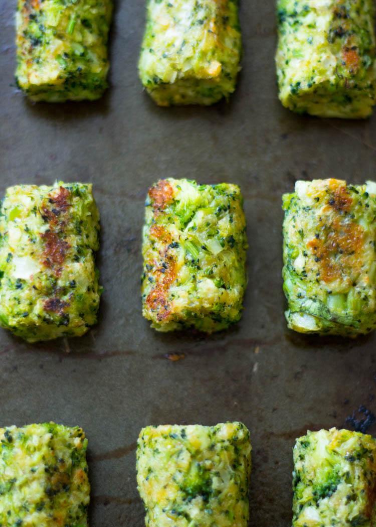 Запеченные палочки с брокколи и сыром 2