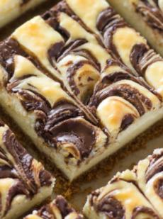 Чизкейк-батончики Nutella