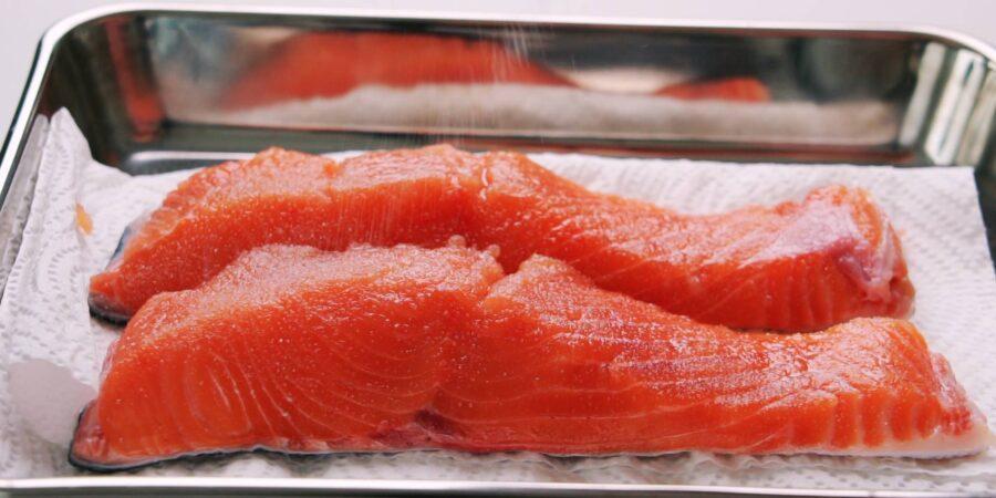 Японский рис с лососем 1