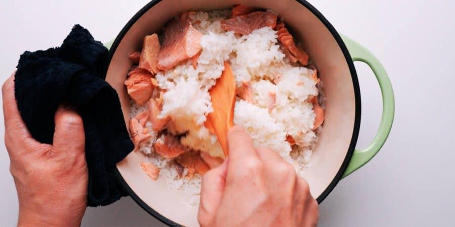 Японский рис с лососем 3