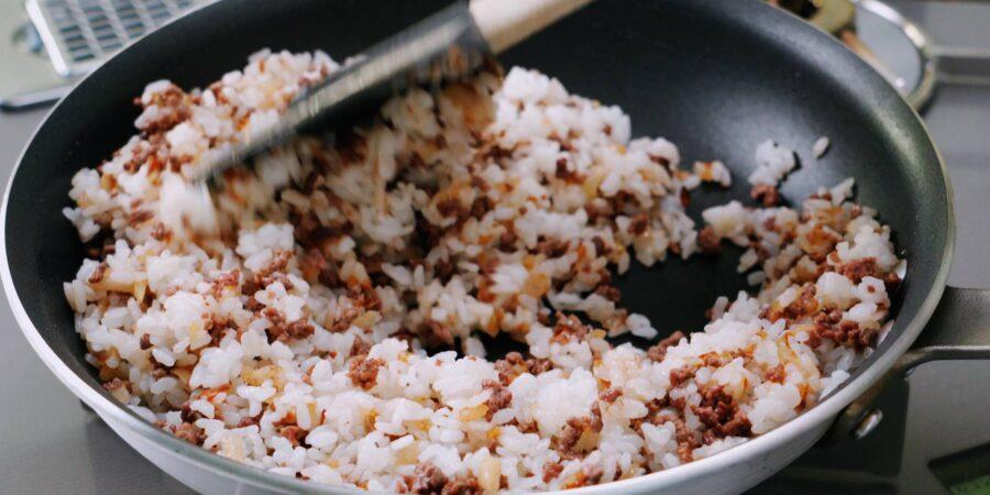 Жареный рис с приправой карри 5