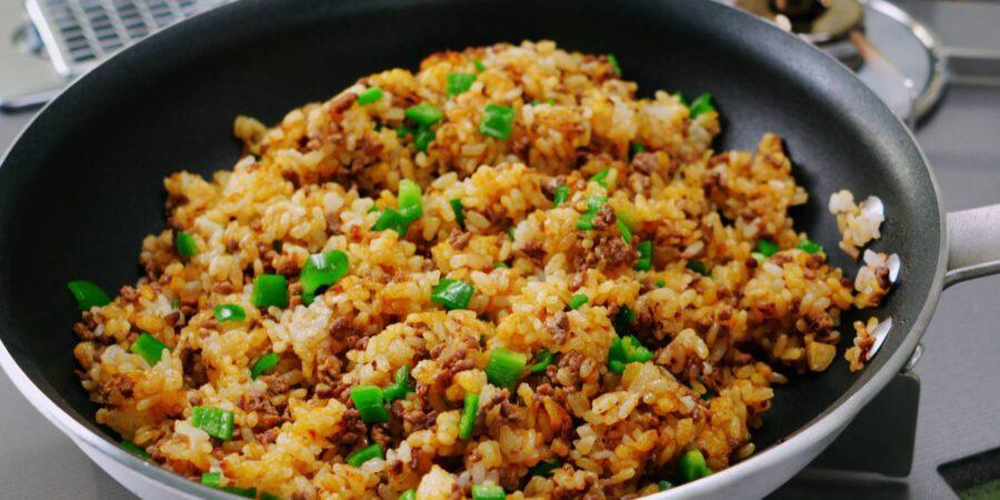 Жареный рис с приправой карри 7