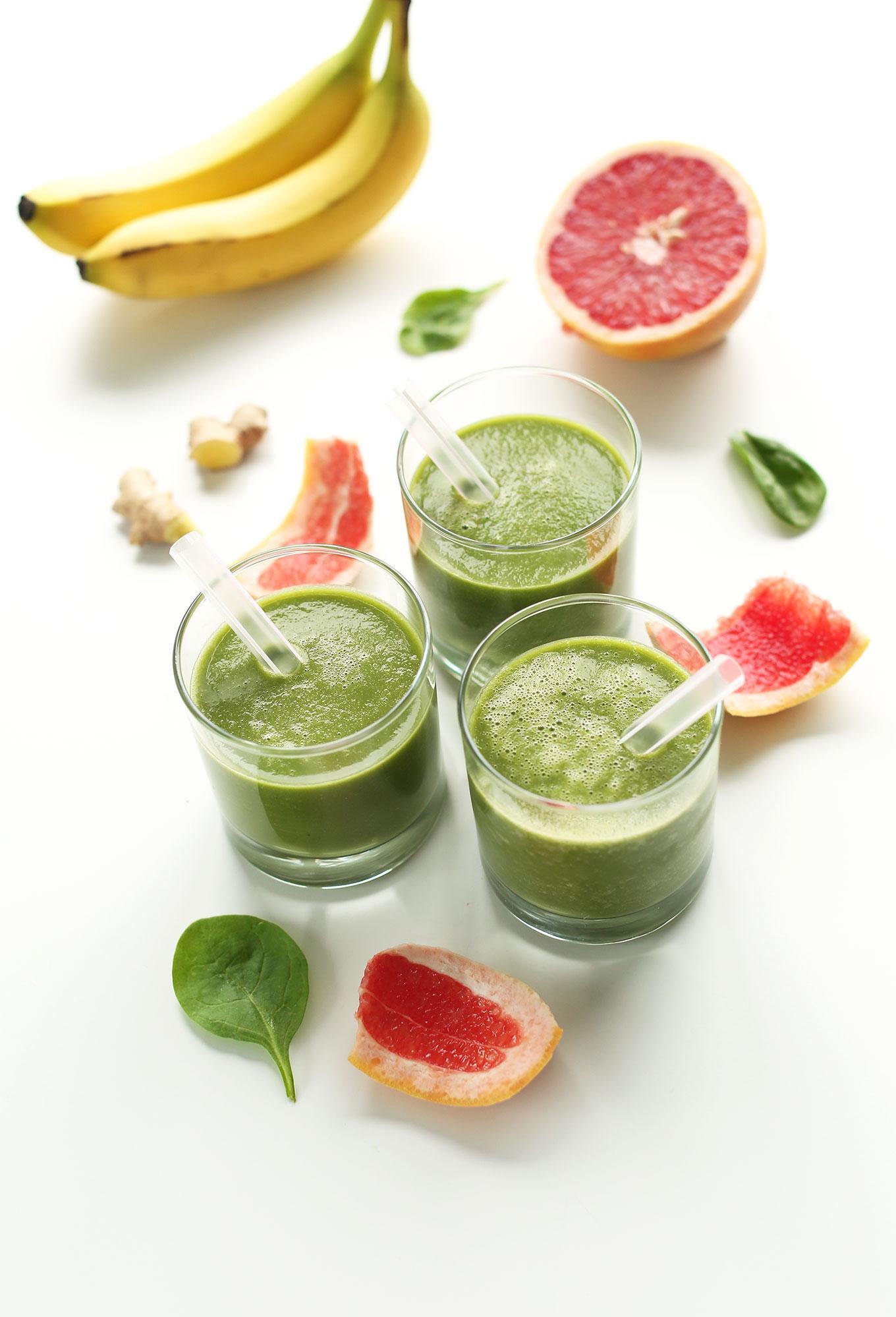 Грейпфрутовый зеленый смузи 5