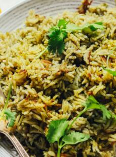 Рис с перцем и зеленью
