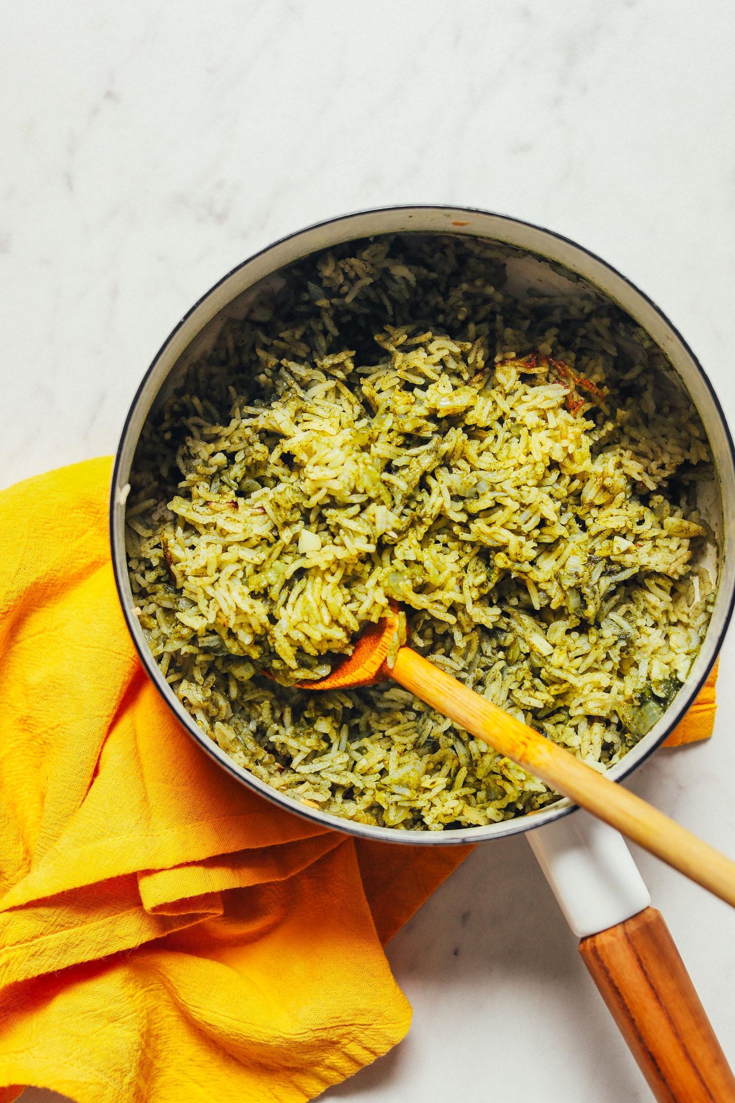 Рис с перцем и зеленью 5