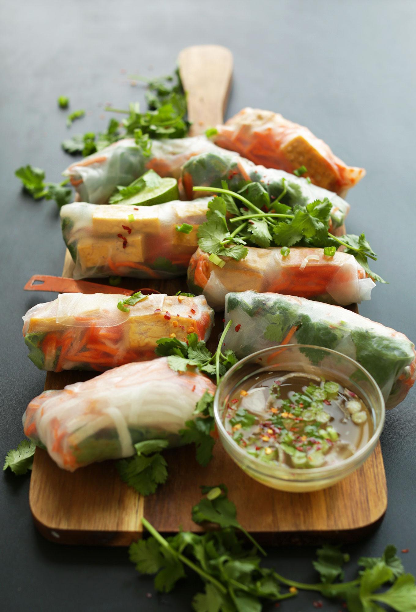 Спринг-роллы с тофу и маринованными овощами 7