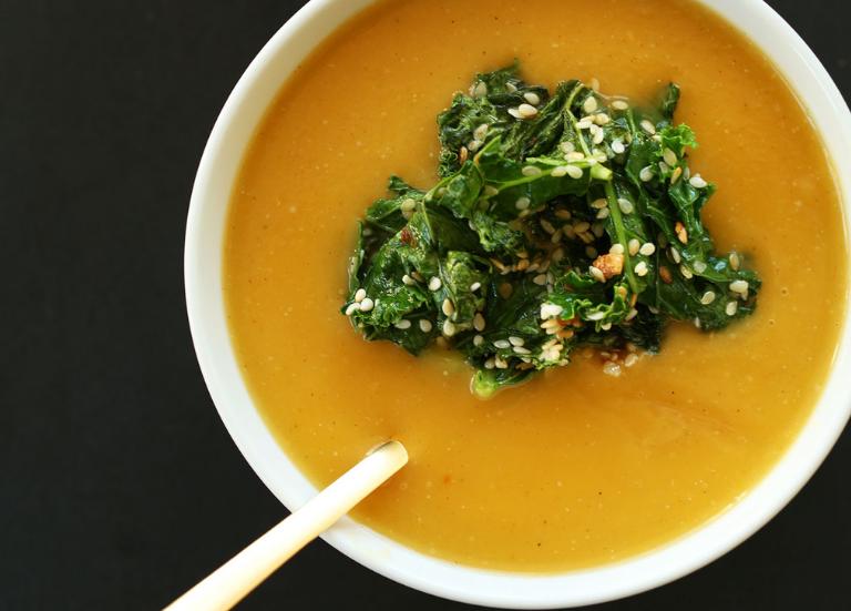 Веганский тыквенный суп