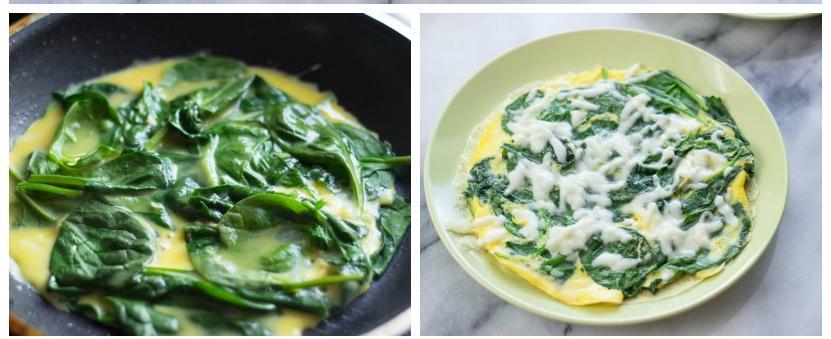 Блинчики из яйца со шпинатом 2