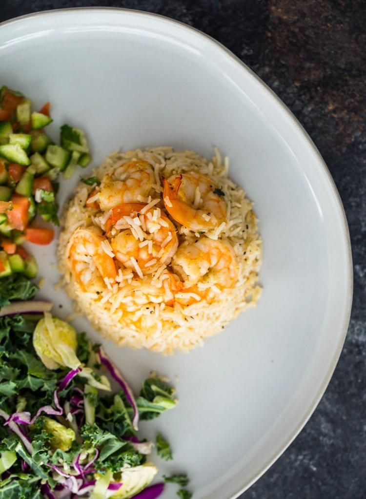 Креветки с рисом на сковороде 2