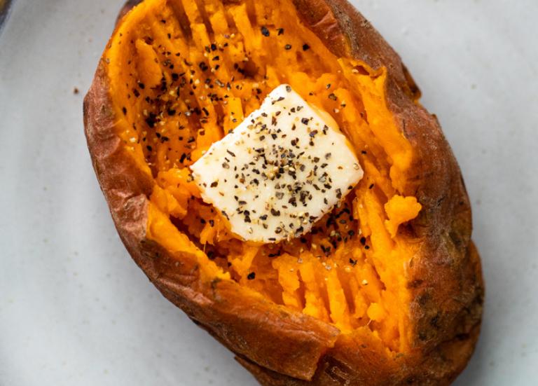 Сладкий картофель в пароварке